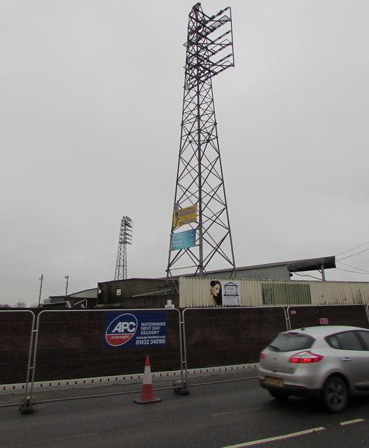 Edgar Street Stadium floodlights, Hereford