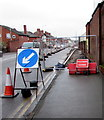 SO5040 : Footpath closed, Edgar Street, Hereford by Jaggery