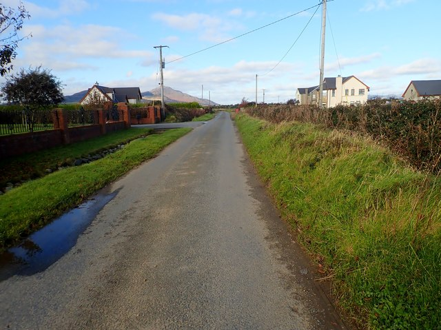 View NNW along the Templetown Road