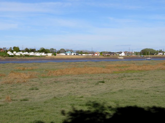 Looking across the Wyre Estuary to Wardleys Creek Holiday Park