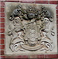 SO5040 : Heraldic plaque on a Hereford wall by Jaggery