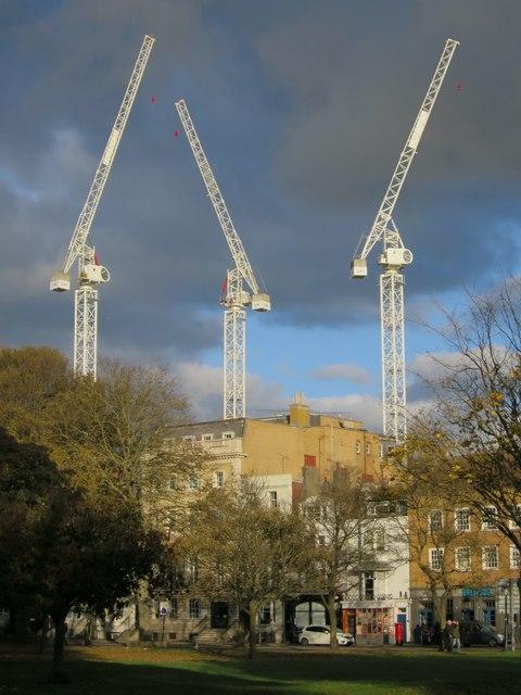 Cranes at Morley Street