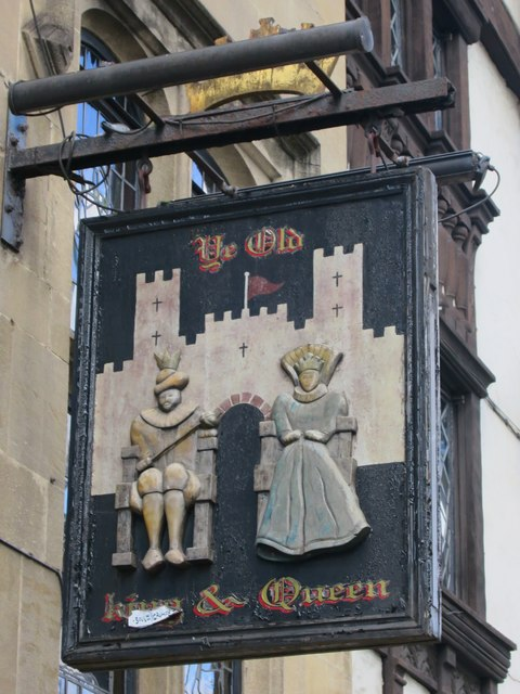 Ye Old King & Queen sign