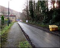 SO2001 : Yellow grit box near Aberbeeg Community Centre, Aberbeeg by Jaggery