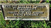 SO4430 : Trafalgar oak tree plaque, Kilpeck, Herefordshire by Jaggery