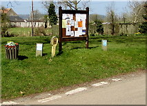 SO4430 : Village information board, Kilpeck, Herefordshire by Jaggery