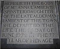 TA0339 : Beverley Minster: ledger slab (s) by Basher Eyre