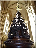 TA0339 : Beverley Minster: font top by Basher Eyre