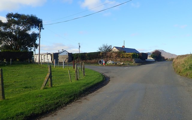 Road junction at the hamlet of Ballinamara