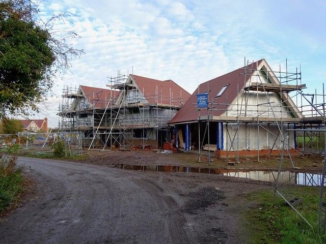 New housing in Scropton