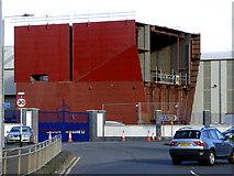 NS3274 : Part of Hull 802 at Ferguson Marine shipyard by Thomas Nugent