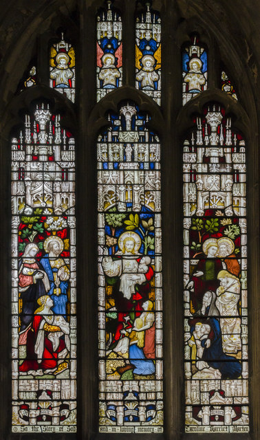Stained glass window, St Mary's church, Beverley