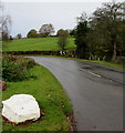 SO3919 : Bend in Old Ross Road, Cross Ash, Monmouthshire by Jaggery