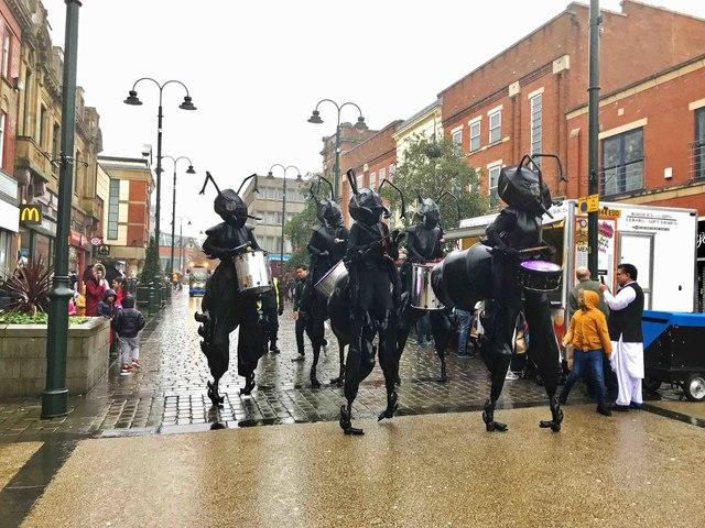 Giant Drumming Ants (1), High Street, Oldham