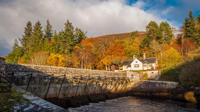 Sluice gates and cottage