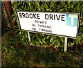 TM3569 : Brooke Drive sign by Adrian Cable