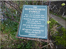SK2176 : The sad tale of the Hawksworth family, Eyam by Marathon