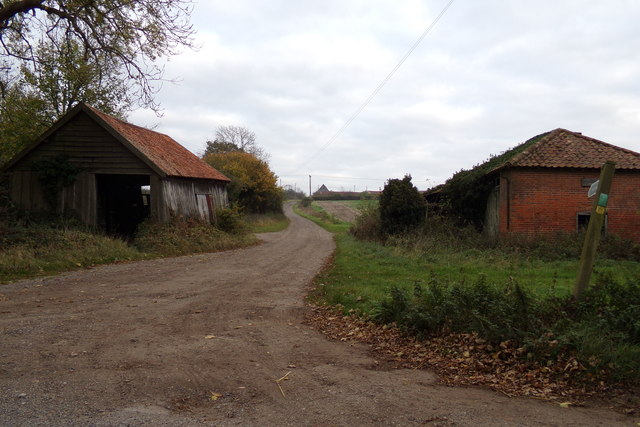 Entrance to North Grange Farm & Footpath