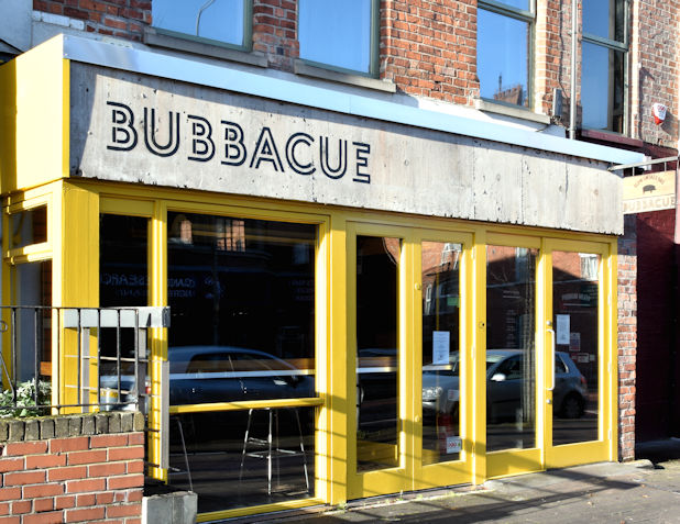 """Bubbacue"", Botanic Avenue, Belfast (November 2017)"