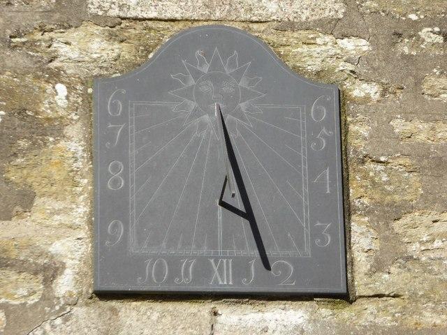 Sundial on Illogan church