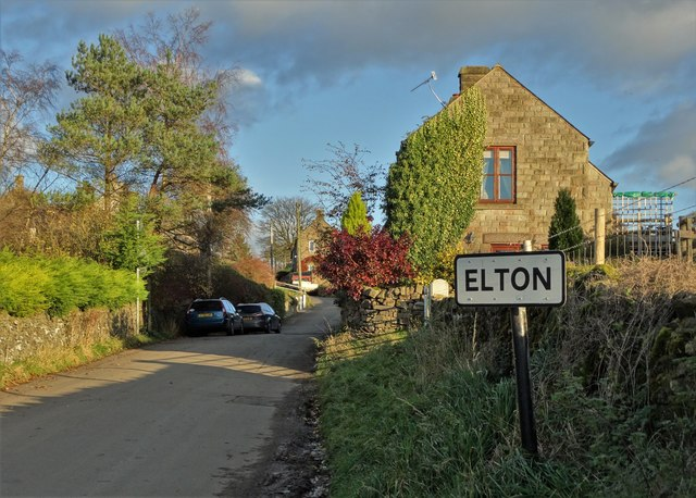 Entering Elton from the west