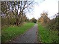 SJ3695 : Railway path alongside Hartleys by Stephen Craven