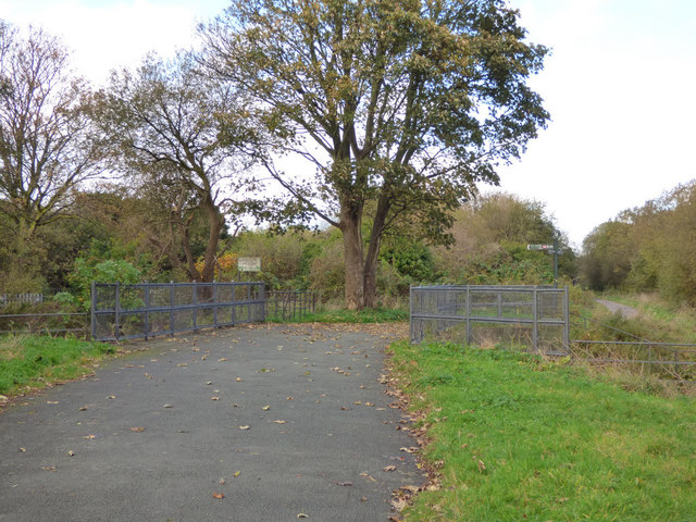 Footbridge over path to Crescent Road