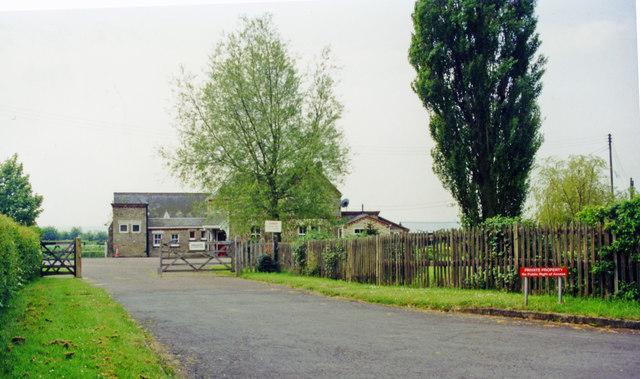 Approach to former Lords Bridge station, now Cambridge University Mullard  Radio-Astronomy Unit, 1999