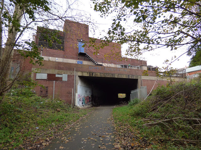 Former railway line under the A59