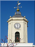 SO9496 : St Leonard's Church clock, Bilston, Wolverhampton by Roger  Kidd