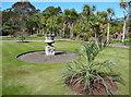 NX0942 : An urn in the walled garden, Logan Botanic Garden by Humphrey Bolton