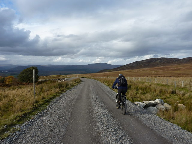 Riding out down the Corriegarth access track