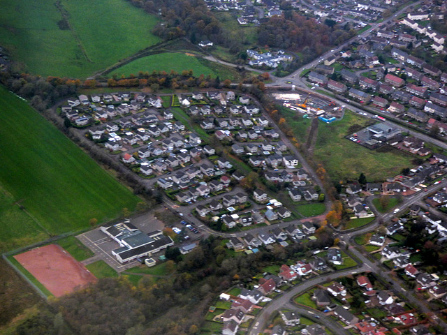 Prestonfield from the air