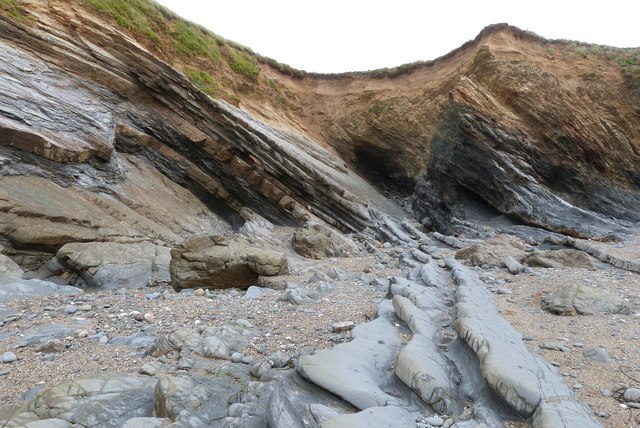 "The ""Blue Rocks"" area of Fishing Cove Beach, Gunwalloe, Cornwall"