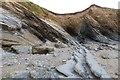 "SW6423 : The ""Blue Rocks"" area of Fishing Cove Beach, Gunwalloe, Cornwall by Derek Voller"