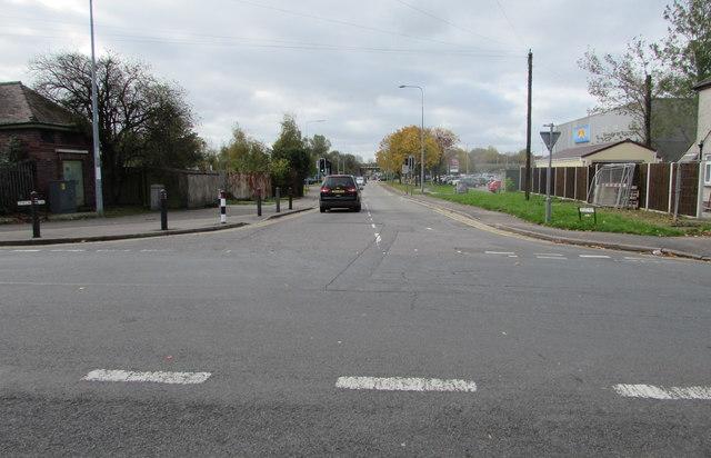 Junction of Docks Way and Mendalgief Road, Newport
