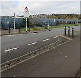 ST3186 : Mendalgief Road traffic calming, Newport by Jaggery