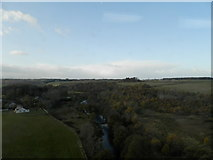 NH7644 : River Nairn from railway viaduct at Clava by Douglas Nelson
