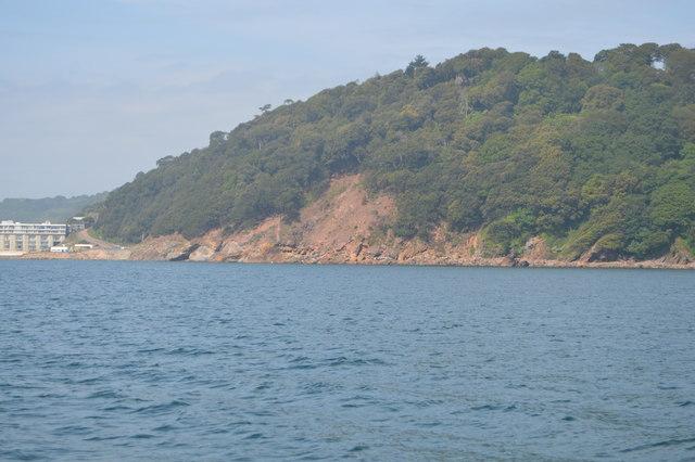 Landslide near Redding Point