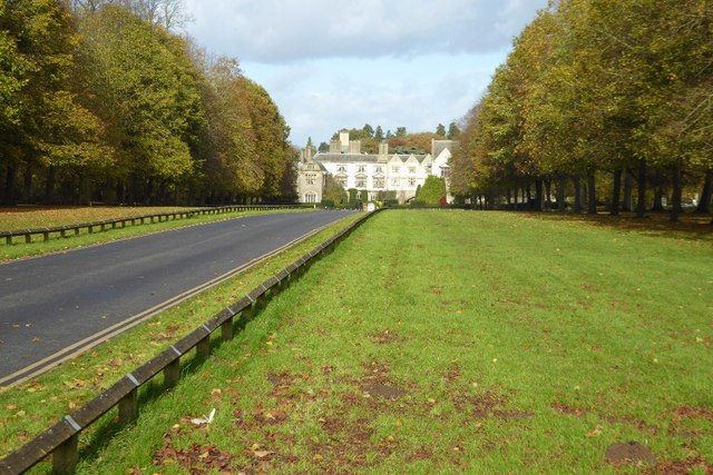 Avenue approaching Coombe Abbey Hotel