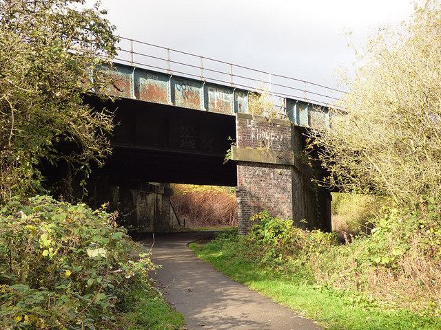 Ormskirk line railway bridge