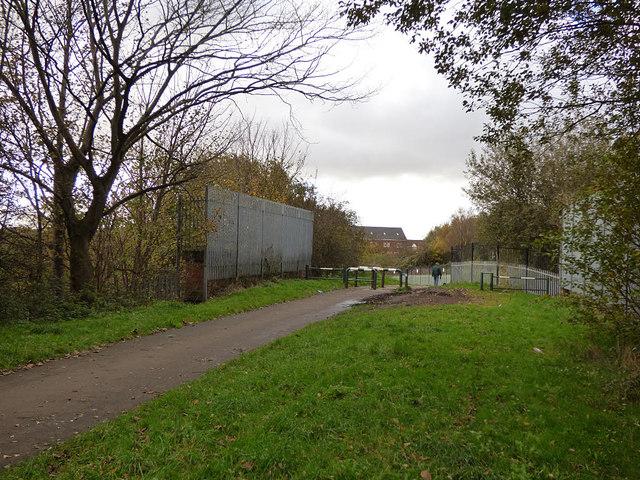 Former railway bridge at Aintree