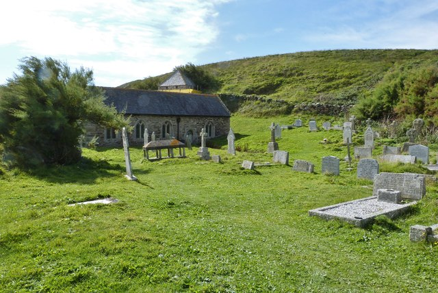 St. Winwaloe's church and graveyard