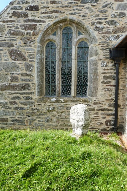 Ancient Cornish Cross at St. Winwaloe's church