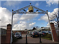 SJ3697 : Aintree station entrance  by Stephen Craven