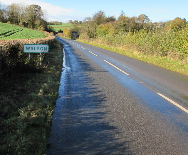 Walson boundary sign, Monmouthshire