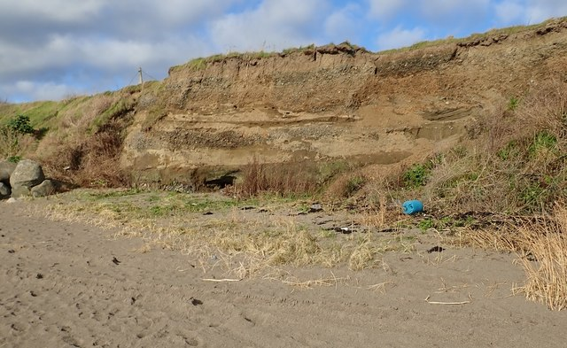 Glacial deposits in the cliffs at Templetown Beach