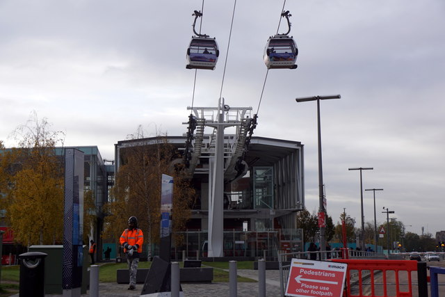 The Greenwich end of the Emirates Air Line