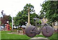 SJ9784 : Paralympic Cycling Sculpture by Gerald England