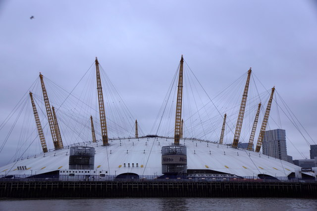 O2 Arena, North Greenwich, from the river